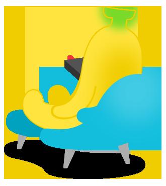 TV시청중인 바나나